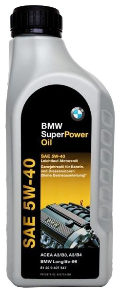 Моторное масло BMW Super Power 5W-40 1 л