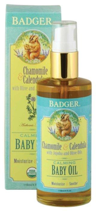 Badger Успокаивающее масло для младенцев с ароматом ромашки и календулы