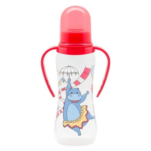 lubby бутылочка с соской малышарики 125 мл с рождения желтый Lubby Бутылочка JUST Lubby с соской и ручками, 250 мл с рождения, в ассортименте
