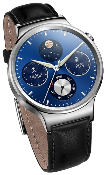 Смарт-часы Huawei Watch Classic Leather Mercury-G00 Stainless Steel серебристые 55020700