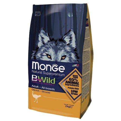 Сухой корм для собак Monge BWILD Feed the Instinct страус 2 кг