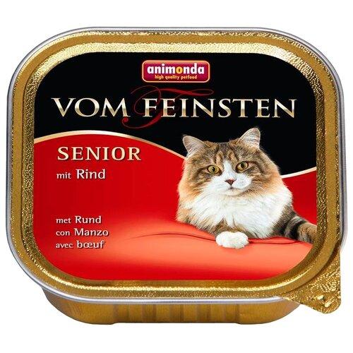 Влажный корм для пожилых кошек Animonda Vom Feinsten, беззерновой, с говядиной 100 г (паштет)