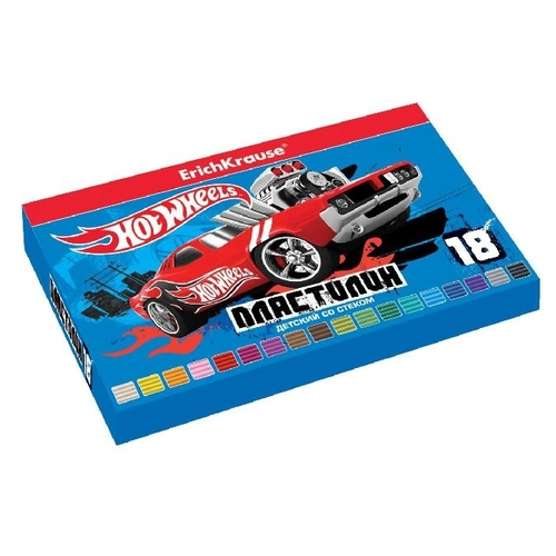 Пластилин ErichKrause Hot Wheels Super Car 18 цветов/324г (39628)