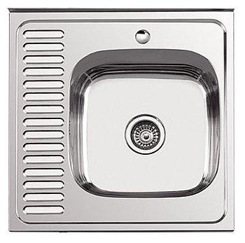 Врезная кухонная мойка Ledeme L66060-R 60х60см нержавеющая сталь
