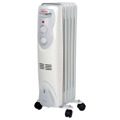 Масляный радиатор РЕСАНТА ОМ-5Н белый/серый