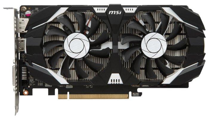 MSI GeForce GTX 1050 1404Mhz PCI-E 3.0 2048Mb 7008Mhz 128 bit DVI HDMI HDCP OC Dual Fans