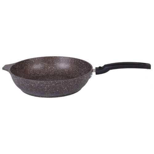 Сковорода Kukmara Мраморная 222а 22 см, съемная ручка, кофейный мрамор сковорода d 24 см kukmara кофейный мрамор смки240а