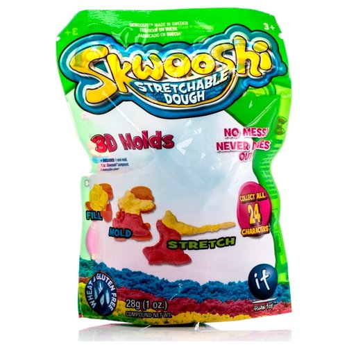 Купить Масса для лепки Skwooshi С формой 28 грамм 3D Molds (S30000), Пластилин и масса для лепки
