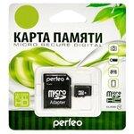 Карта памяти Perfeo microSDHC Class 10 + SD adapter
