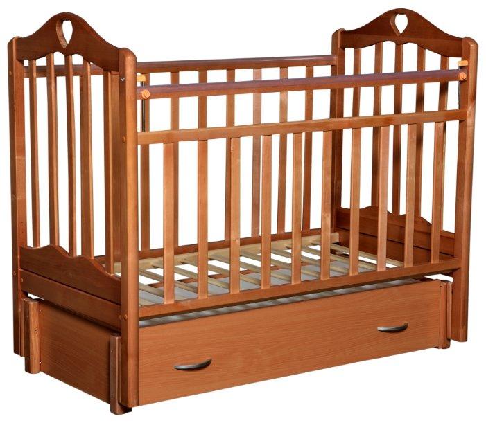 Кроватка Антел Каролина-6 (продольный маятник   ящик)