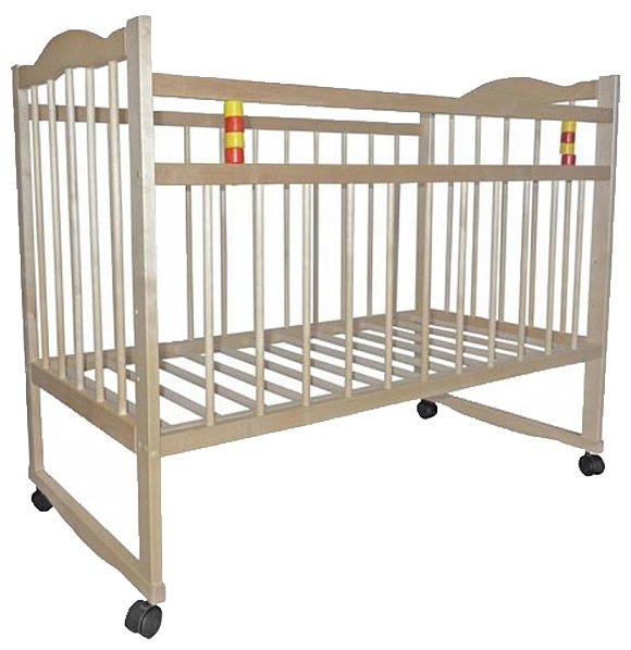 Кроватка Промтекс КД 1200 ксП (колесо/качалка, игрушка)