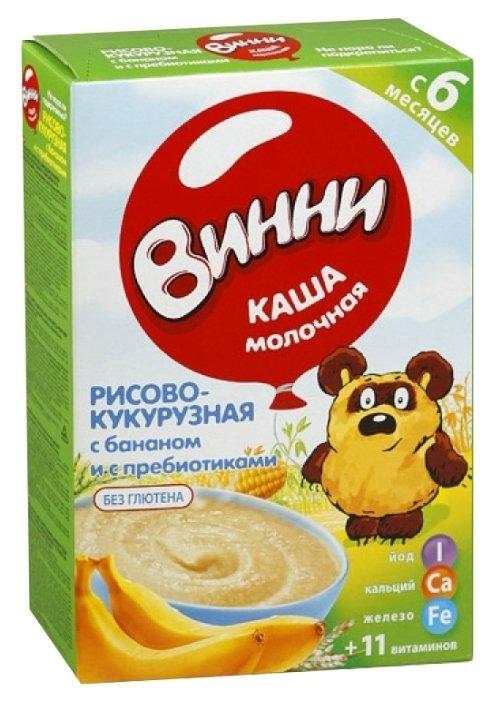 Каша Винни молочная рисово-кукурузная с бананом и пребиотиками (с 6 месяцев) 220 г