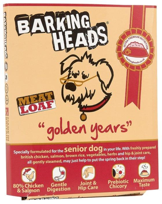 Корм для собак Barking Heads Ламистер для собак старше 7 лет Золотые годы с цыпленком и лососем (0.395 кг) 8 шт.