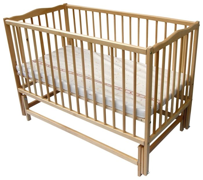 Кроватка Mopan Радуга на шарнирах
