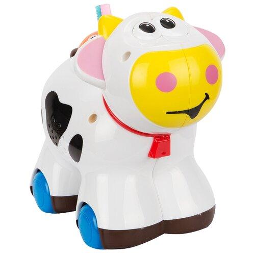 Интерактивная развивающая игрушка S+S Toys Веселые зверята корова ролевые игры s s toys игрушка дрель