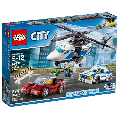 Конструктор LEGO City 60138 Стремительная погоня конструктор city lego lego mp002xb00c9t
