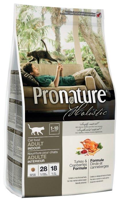 ProNature (2.27 кг) Индейка с клюквой для взрослых кошек, живущих в помещении