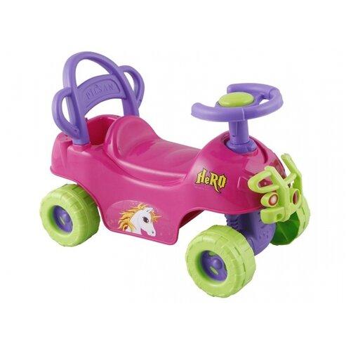 Каталка-толокар pilsan Hero ATV (07812) со звуковыми эффектами розовый