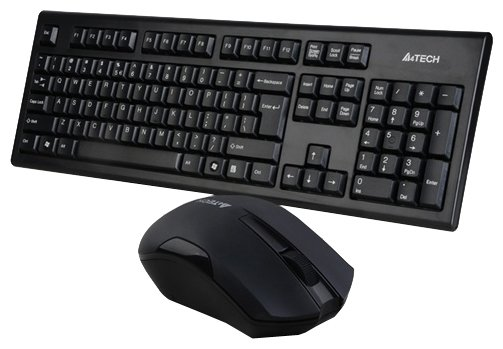 A4Tech Клавиатура и мышь A4Tech 3000N Black USB