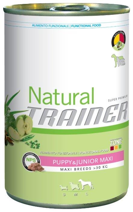 Корм для собак TRAINER Natural Puppy&Junior Maxi canned