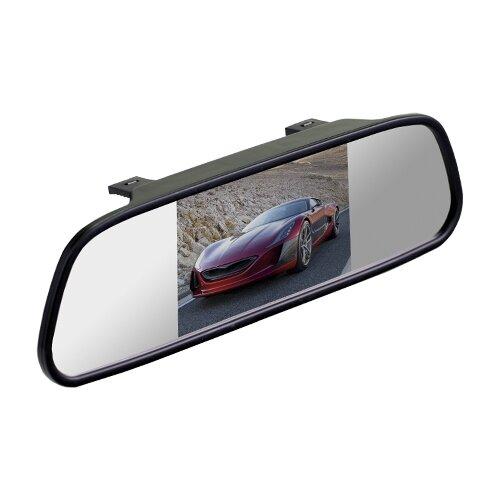 """Автомобильный монитор Interpower Зеркало+монитор 4,3"""" черный"""