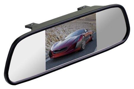 Автомобильный монитор Interpower Зеркало+монитор 4,3