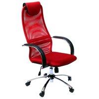 Метта Офисное кресло BK-8 Pl Ткань-сетка синяя №23 430x600x1050