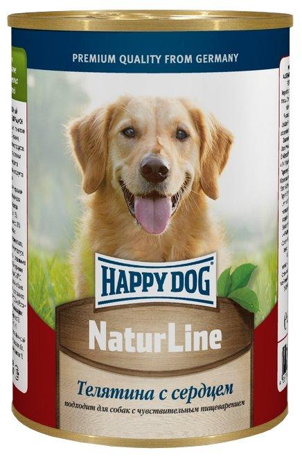 Корм для собак Happy Dog NaturLine для взрослых собак. Телятина с сердцем