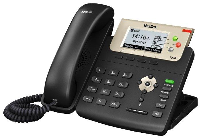 Интернет-телефония YEALINK SIP-T23G, 3 линии, PoE, GigE
