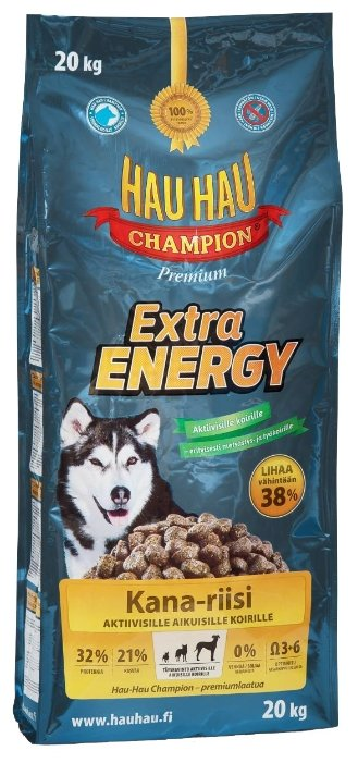Корм для собак Hau-Hau Champion Extra Energy