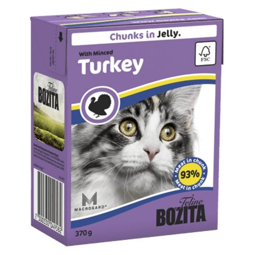 Корм для кошек Bozita Feline chunks in jelly with Minced Turkey (0.37 кг) 1 шт.Корма для кошек<br>