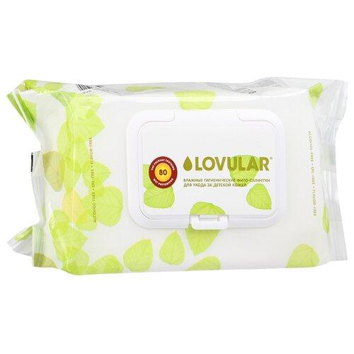 Влажные салфетки LOVULAR Фито-салфетки для ухода за детской кожей 80 шт.Влажные салфетки<br>