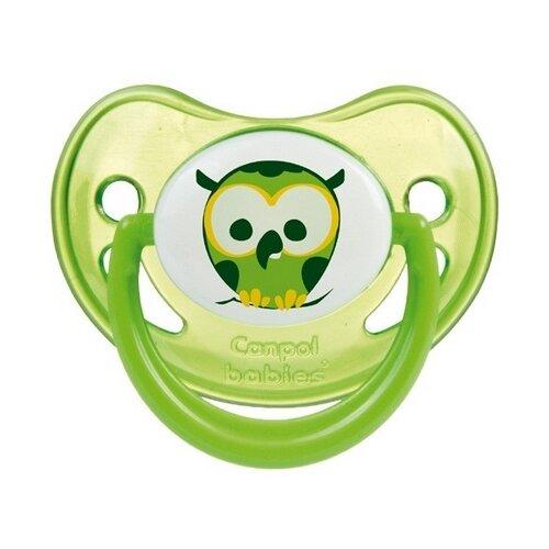 Купить Пустышка силиконовая ортодонтическая Canpol Babies Night Dreams 6-18 м (1 шт.) зеленый, Пустышки и аксессуары