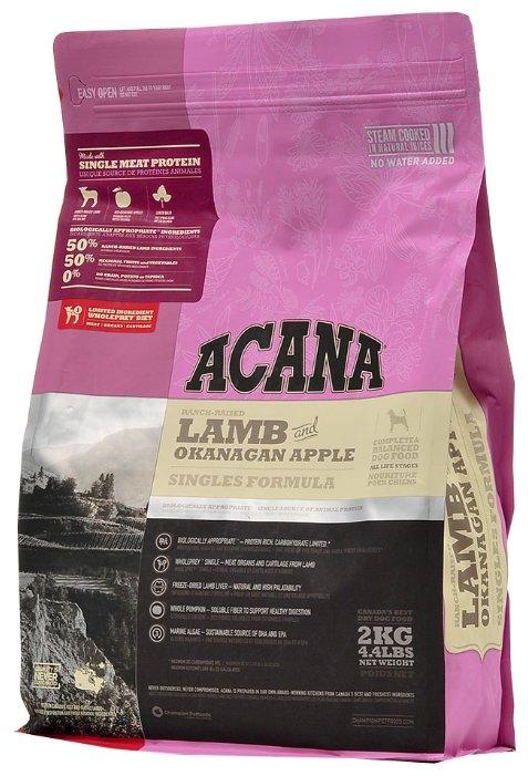 Корм для собак Acana Singles ягненок с яблоком 2 кг