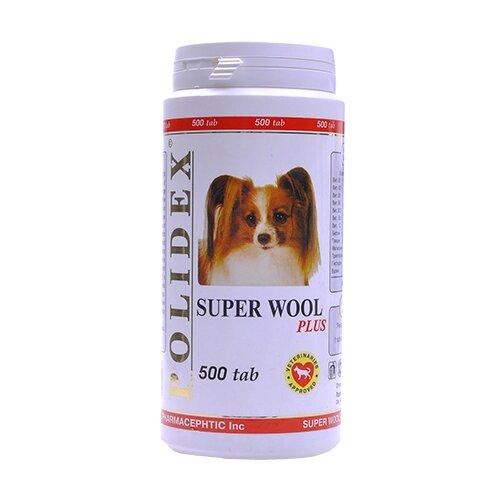 Витамины Polidex Super Wool plus для собак 500 таб.