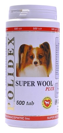 Витамины Polidex Super Wool plus для собак