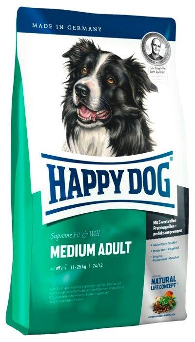 Корм для собак Happy Dog Supreme Fit&Well - Medium Adult для взрослых собак средних пород