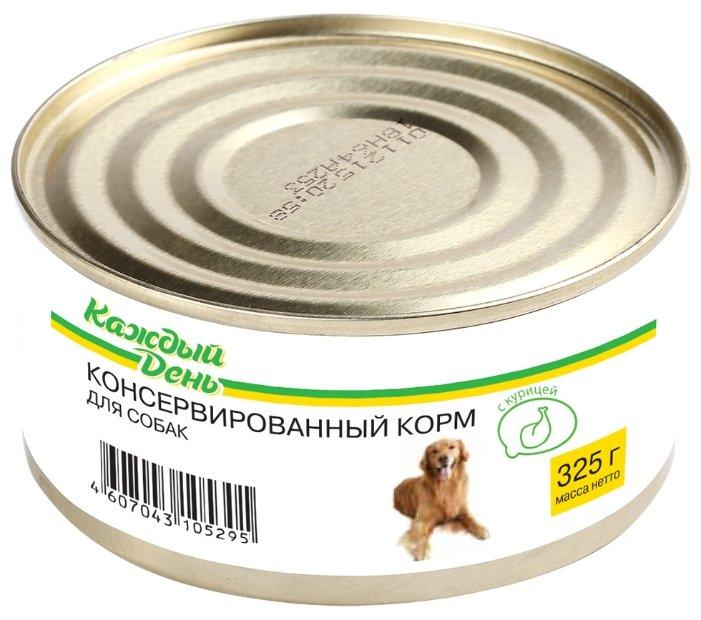 Корм для собак Каждый День Консервы для собак с курицей