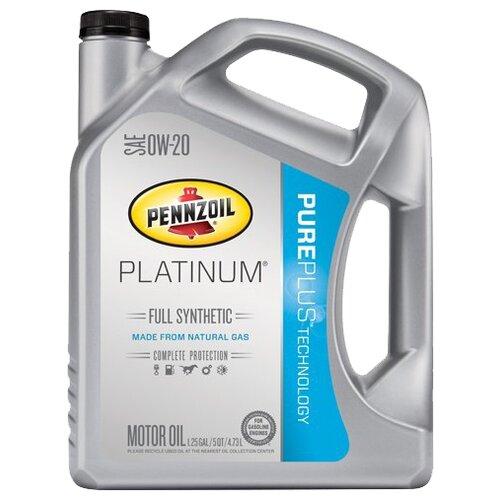 Фото - Моторное масло Pennzoil Platinum Full Synthetic SAE 0W-20 4.73 л моторное масло pennzoil gold synthetic blend sae 5w 30 0 946 л
