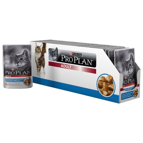 Корм для кошек Purina Pro Plan Adult feline with Rabbit in Jelly (0.085 кг) 24 шт.