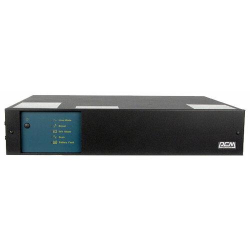 Интерактивный ИБП Powercom King Pro RM KIN-2200AP-RM черный ибп powercom king pro rm kin 2200ap lcd 2200va