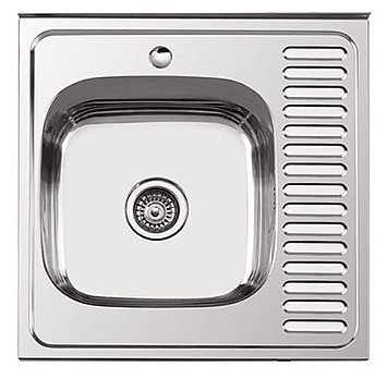 Врезная кухонная мойка Ledeme L66060-L 60х60см нержавеющая сталь