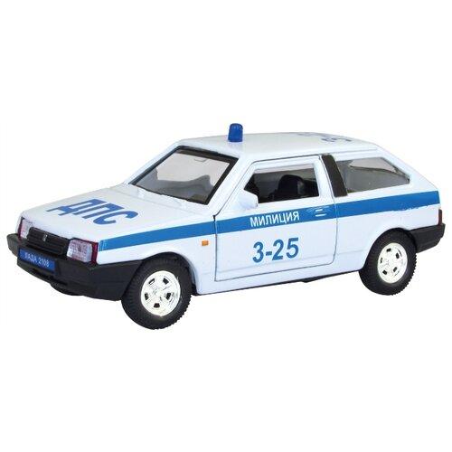 Легковой автомобиль Autogrand Lada 2108 милиция (3306) 1:36 белый фото
