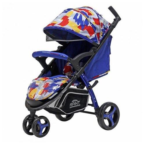 Прогулочная коляска RANT Lunar graffity blue коляска прогулочная rant lunar alu graffity brown