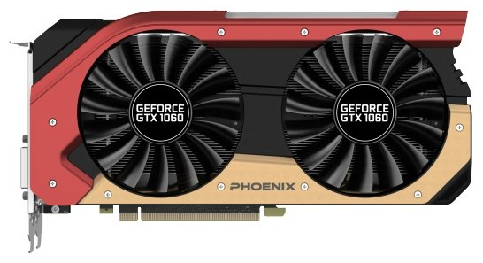 Gainward Видеокарта Gainward GeForce GTX 1060 1506Mhz PCI-E 3.0 6144Mb 8000Mhz 192 bit DVI HDMI HDCP Phoenix