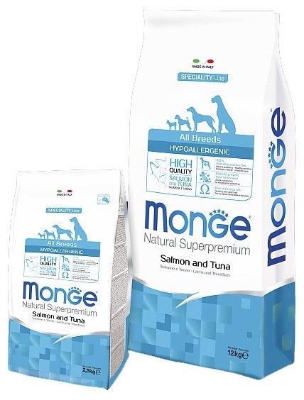 Monge Speciality Line Hypoallergenic – Лосось и тунец (12 кг)