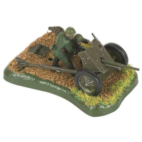 Купить Сборная модель ZVEZDA Советская противотанковая 45-мм пушка с расчётом (6112) 1:72, Сборные модели