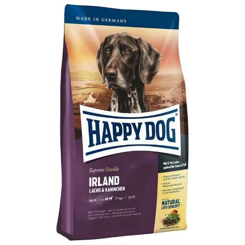 Фото - Сухой корм для собак Happy Dog Supreme Sensible Irland лосось, кролик 12.5 кг сухой корм happy dog supreme sensible adult 11kg irland salmon