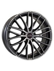 OZ 8x18/5x108 ET45 D75 Italia 150 Matt Dark Graphite Diamond Cut - фото 1