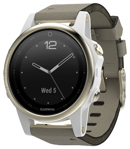 Garmin Fenix 5S Sapphire with Suede Band